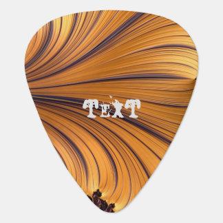 Púa de guitarra abstracta loca del celuloide del