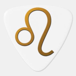 Púa de guitarra astrológica de la muestra de Leo