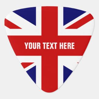 Púa de guitarra británica Union Jack personalizado