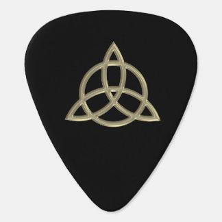 Púa de guitarra céltica del nudo del círculo de la