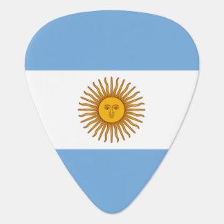 Púa de guitarra de la bandera de la Argentina para