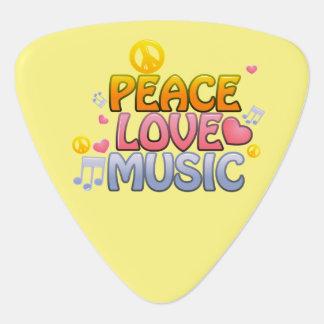 Púa de guitarra de la música del amor de la paz,