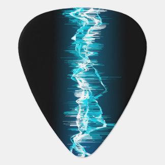 Púa de guitarra de la onda acústica