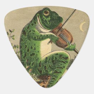 Púa de guitarra de la rana