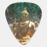 Púa de guitarra de señor Shiva/Green Abstract Patt