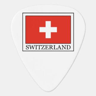 Púa de guitarra de Suiza