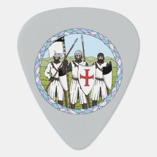 Púa de guitarra de Templar de los caballeros