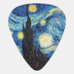 Púa de guitarra del arte de la noche estrellada