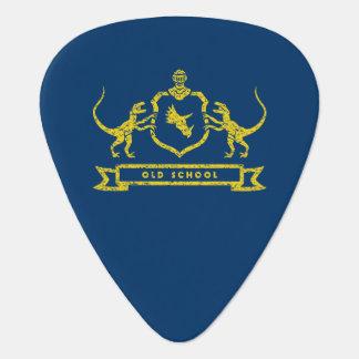 Púa de guitarra del escudo de armas del dinosaurio