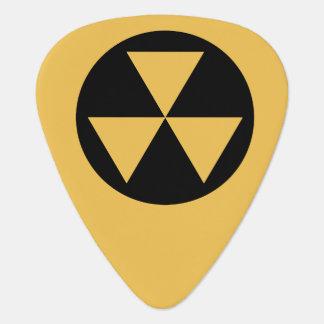 Púa de guitarra del refugio de polvillo radiactivo