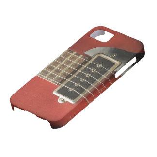 Púa de guitarra eléctrica del vintage rojo para iPhone 5 Case-Mate cárcasas