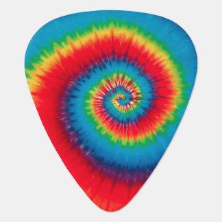 Púa de guitarra espiral retra del teñido anudado