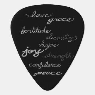 Púa de guitarra inspiradora de las palabras