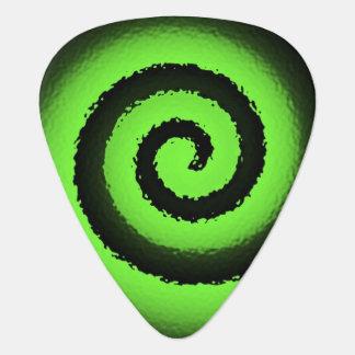 púa de guitarra neonspiral verde