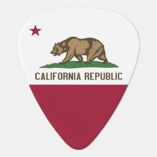 Púa de guitarra patriótica con la bandera de