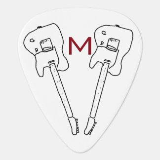 púa de guitarra personalizada de la música rock