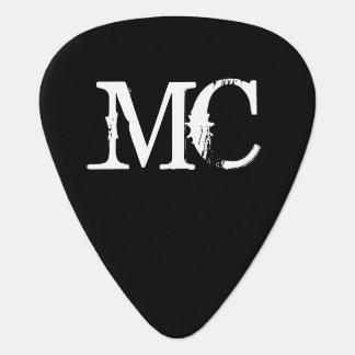 Púa de guitarra personalizada del monograma con in