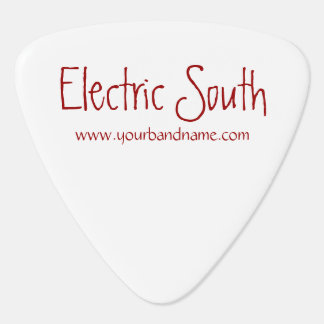 Púa de guitarra personalizada del nombre de la