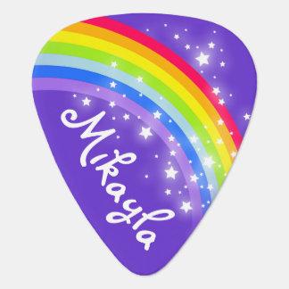 Púa de guitarra personalizada púrpura de los chica