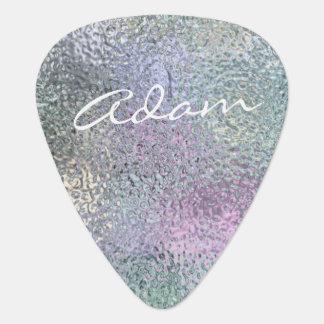 Púa de guitarra personalizada textura iridiscente
