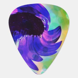 Púa de guitarra púrpura del remolino del girasol