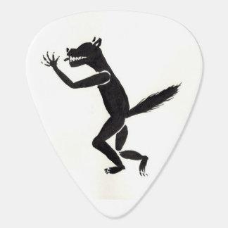 Púa de guitarra Slavering del hombre lobo