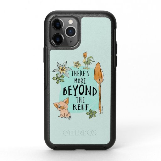 """Pua & Hei Hei """"There's More Beyond The Reef"""" OtterBox Symmetry iPhone 11 Pro Case"""