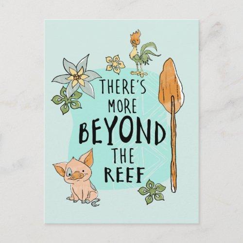 Pua  Hei Hei Theres More Beyond The Reef Postcard