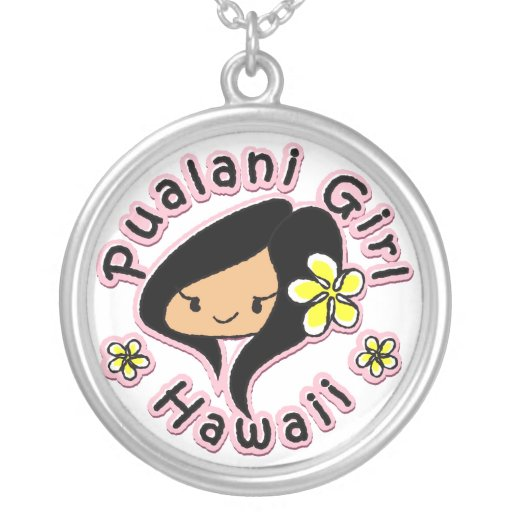 Pualani Girl Hawaii - Necklace Pendant
