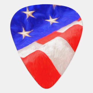 Púas de guitarra de la bandera americana plectro