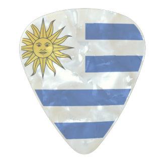 Púas de guitarra de Uruguay, perla Cel Púa De Guitarra Celuloide Nacarado