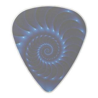 Púas de guitarra espirales azules brillantes del púa de guitarra acetal