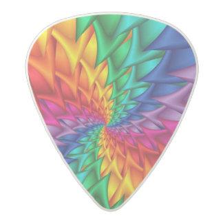 Púas de guitarra espirales de las espinas del arco plectro de acetal