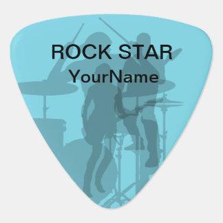 Púas de guitarra frescas de la estrella del rock plumilla de guitarra