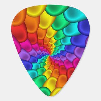 Púas de guitarra psicodélicas del espiral del arco plectro