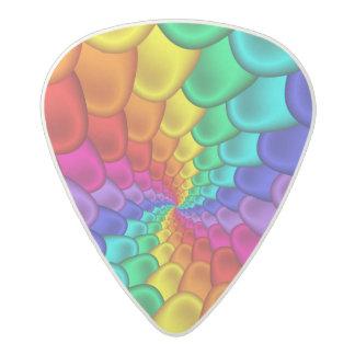 Púas de guitarra psicodélicas del espiral del arco plectro de acetal