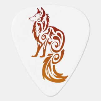 Púas de guitarra tribales rojas del Fox de Firey Uñeta De Guitarra