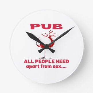 Pub all people need apart from ..... clocks