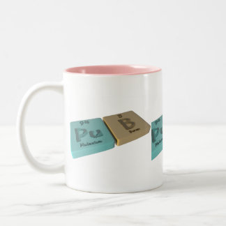 Pub as Pu Plutonium and B Boron Two-Tone Coffee Mug