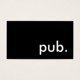 pub. business card