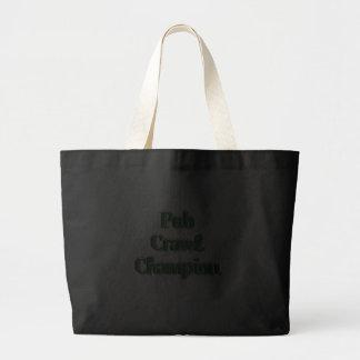 Pub Crawl Champion Text Image Tote Bags