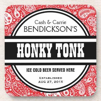 Pub de encargo de Tonk del Honky de Paisley de la  Posavasos De Bebidas