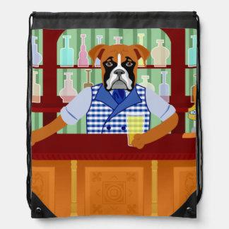 Pub de la cerveza del perro del boxeador mochila