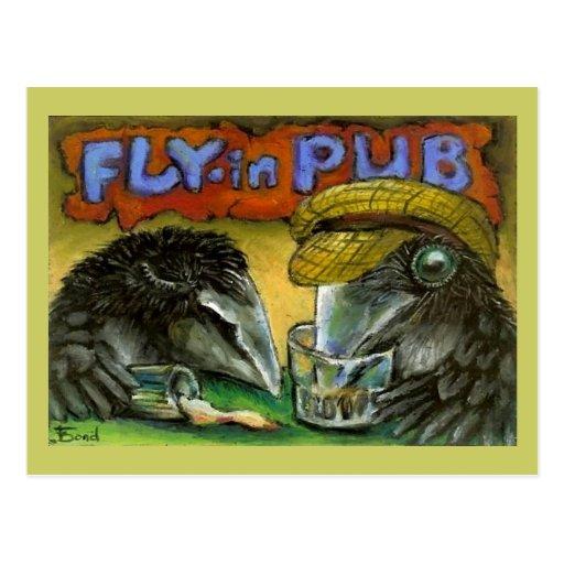Pub de la reunión tarjetas postales