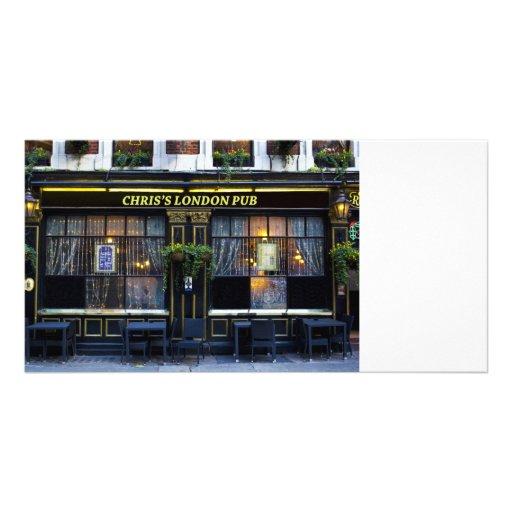 Pub de Londres de Chris Tarjetas Fotograficas