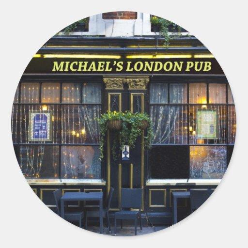 Pub de Londres de Michael Pegatinas Redondas