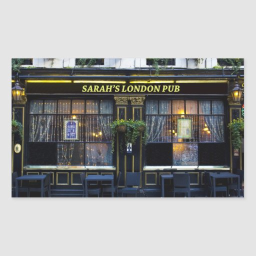 Pub de Londres de Sarah Pegatina Rectangular