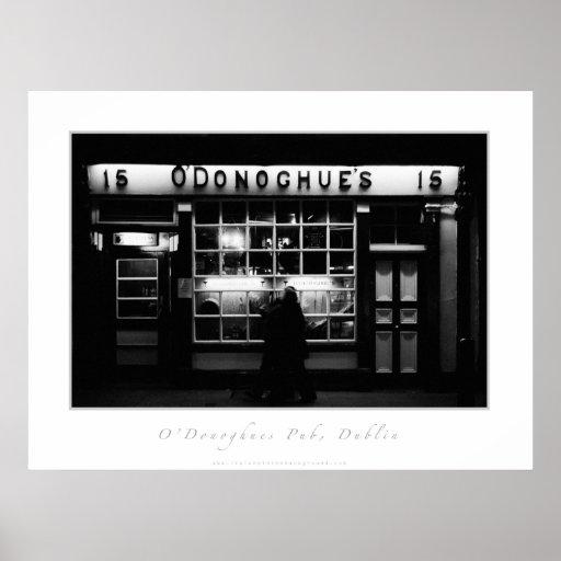 Pub de O'Donoghues, Dublín Póster