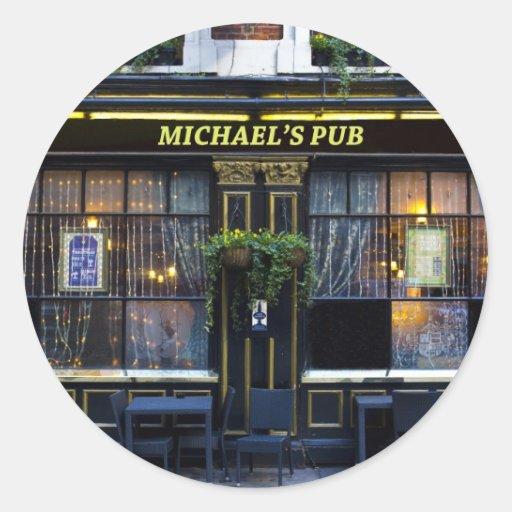 Pub de s de Michaels '' Pegatina Redonda