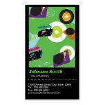 Pub DJ - Cool Disc Jockey Mixer Deck  - QR Code Business Card